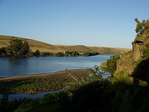 Breede River - The Breede River about 5km inland from its mouth.