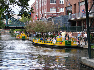 Bricktown Canal Water Taxis in Oklahoma City.jpg