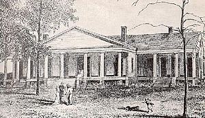Brierfield Plantation - 1880's engraving of the main house.