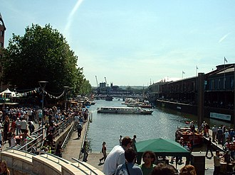 Bristol Harbour - St Augustine's Reach and Pero's Bridge, during the 2004 Harbour Festival
