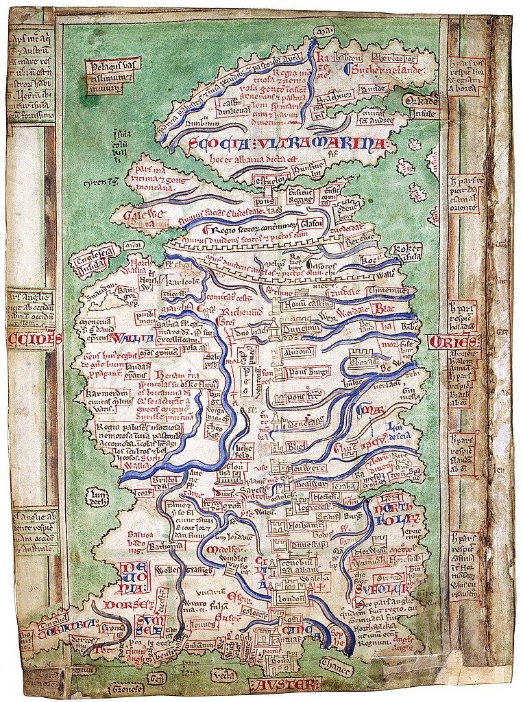 Britannienkarte des Matthew Paris