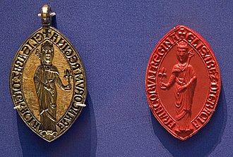 Isabella of Hainault - Seal of Isabella, currently in the British Museum.
