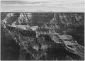 """Broad view with detail of canyon, horizon, and mountains above, """"Grand Canyon National Park,"""" Arizona., 1933 - 1942 - NARA - 519888.tif"""