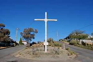 A cross at Broken Hill, New South Wales