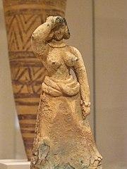Minoan bronze figurine