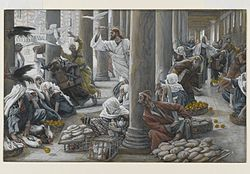 James Tissot: The Merchants Chased from the Temple