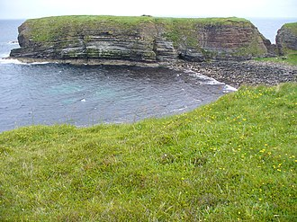 Thorfinn the Mighty - The Brough of Deerness - a Viking age ecclesiastical ruin here is associated with Thorkel Fosterer.