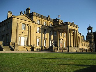 George Webster (architect) - Broughton Hall showing Webster's Ionic porte-cochère