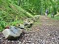 Buchenwald - Ehemalige Bahnlinie mit Gedenksteinen (Former Railway Trackbed with Memorial Stones) - geo.hlipp.de - 40200.jpg