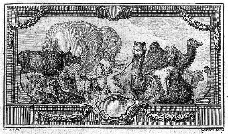 "File:Buffon, cherubs and animals in ""Histoire naturelle"" Wellcome L0012685.jpg"