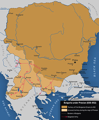 History of Romania - Bulgaria after the territorial expansion under Krum, Omurtag, and Presian