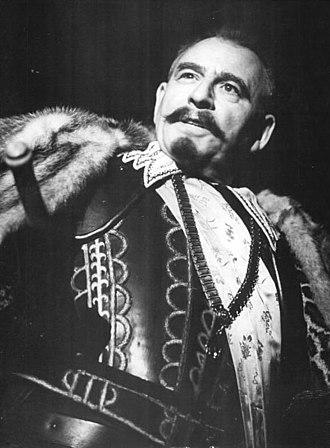 Wallenstein (trilogy of plays) - Wolfgang Heinz as Wallenstein, 1962, at the Deutsches Theater Berlin, directed by Karl Paryla