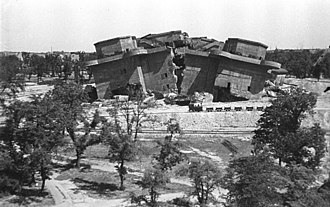 Volkspark Friedrichshain - Filling in the destroyed bunkers (August 1949)