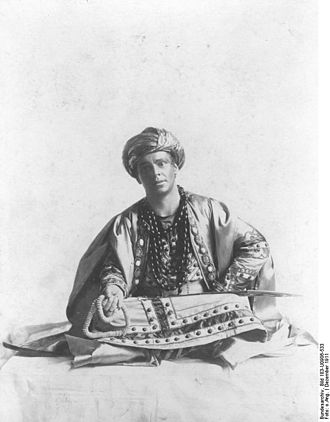 Aleksandër Moisiu - Moissi as Prince Kalaf in Gozzi's Turandot, Deutsches Theater, Berlin, December 1911