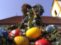 Burghaslach market fountain, easter-decorated.png