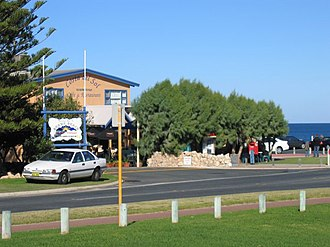 Burns Beach, Western Australia - Costa Del Sol Cafe and Restaurant and the Indian Ocean at Burns Beach