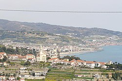View of Bussana with Arma di Taggia in background