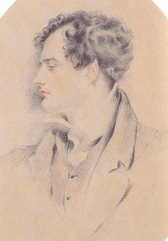 Byronic hero - Byron c. 1816, by Henry Harlow