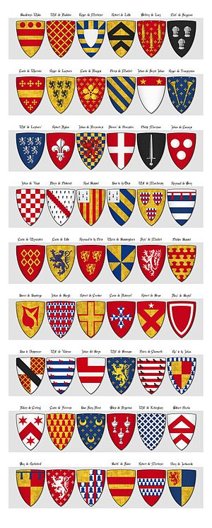 Camden Roll - Image: CAMDEN ROLL Panel 3 shields 109 to 162