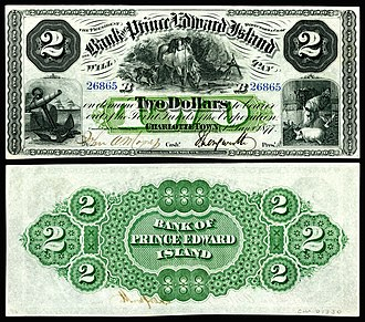 Prince Edward Island dollar - Image: CAN S1930c Bank of Prince Edward Island 2 Dollars (1877)