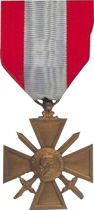 Croix de Guerre - French Croix de guerre des TOE