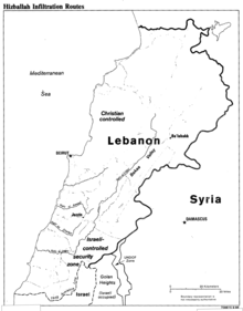 hezbollah armed strength wikipedia Recoilless Round map of hezbollah infiltration routes into the security zone