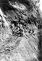 COLLECTIE TROPENMUSEUM Tracé uitgekapt in de rotswanden van de Wolo Toekaka links C. Le Roux rechts Jhr. De Lannoy Midden-Flores TMnr 10008050.jpg