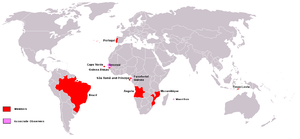 Portuguese-speaking African countries - Members of the Community of Portuguese Language Countries (CPLP).