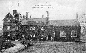 Colchester Royal Grammar School - The existing schoolhouse, c. 1908