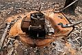 CSIRO ScienceImage 10635 A lawnmower destroyed by fire at Kinglake after the Black Saturday bushfires.jpg