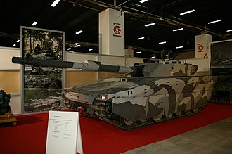 Combat Vehicle 90 - CV90120-T prototype, from which PL-01 is being developed