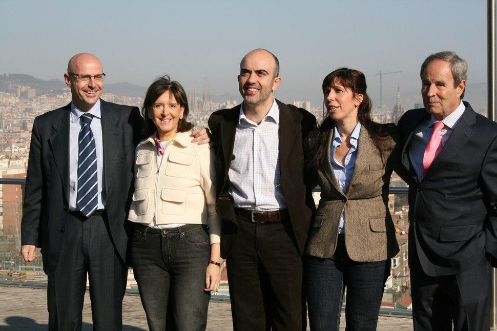 Cabezas de lista del PP en Catalunya para las elecciones de 2008