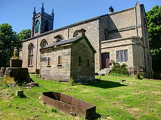 Cadder - Image: Cadder, Parish Church, watchhouse and iron mortsafe geograph.org.uk 1343317