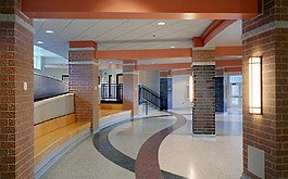 Cafeteria-lobby-with-bench