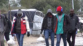 European migrant crisis - Sudanese migrants in Calais, October 2015