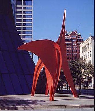 Eagle (Calder) - Calder Eagle original site at Bank One in Fort Worth.