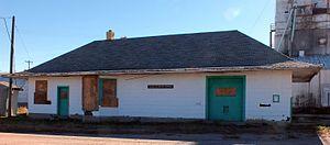 Calhan Rock Island Railroad Depot - Image: Calhan Rock Island Railroad Depot