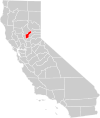 California county map (Yuba County highlighted).svg
