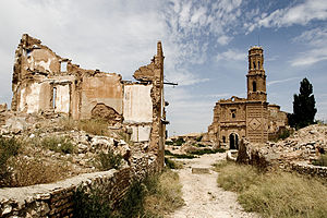 Confraternity of Belchite - Today Belchite lies in ruins, a casualty of the civil war