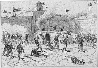 Tonkin (French protectorate) - Image: Campagne du Tonkin Le commandant Riviere entre dans Nam Dinh