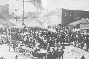 History of Sonora - Image from the Cananea miners' strike 1906