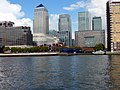Canary Wharf from the River Thames - geograph.org.uk - 1702346.jpg