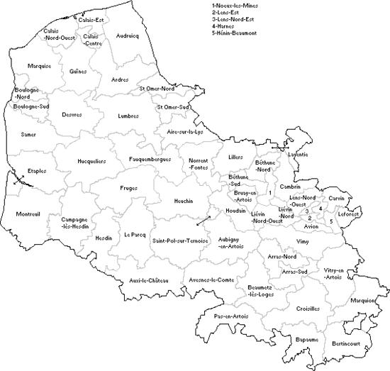 Liste des cantons du pas de calais wikip dia for Code postal billy berclau