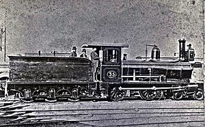 CGR 1st Class 4-4-0 - 1st Class 4-4-0 no. W35