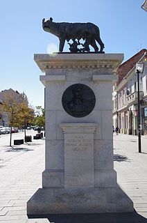 Capitoline Wolf Statue, Cluj-Napoca heritage site in Cluj County, Romania