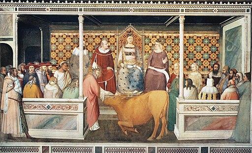 Maso di Banco, Miracolo della resurrezione del toro, 1337 ca.Cappella Bardi di Vernio, Santa Croce, Firenze
