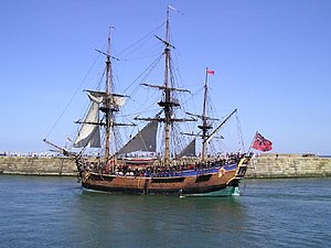 "HM Bark Endeavour Replica - Image: Captain Cook's Boat ""Endeavour"" geograph.org.uk 103834"