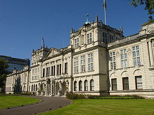 Cardiff University School of Medicine - The Main Building of Cardiff University