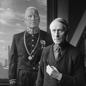 Carel Willink - Carel Willink and one of his paintings