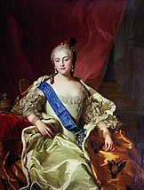 Tsarina Elizabeth I of Russia, painting by Charles André van Loo